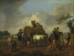 Philips Wouwerman - Landwerkers bij het hooien