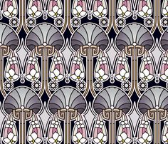 Art Deco abstract, pearl tones fabric by hannafate on Spoonflower - custom fabric