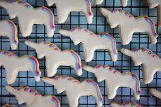 Vegan unicorn cutout cookies  Recipe: https://vegandollhouse.com/recipes/vegan-unicorn-cookies/