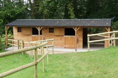 Stables & Covered Walkway - Prime Stables - This stable block includes two x stables, a x covered walkway and a small store t - Horse Shelter, Horse Stables, Horse Farms, Small Horse Barns, Horse Barn Plans, Covered Walkway, Hay Barn, Shed Plans, Farm Life