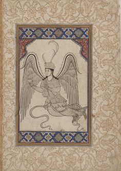 Angel with Cup and Wine Flask Mid 16th Century Ottoman