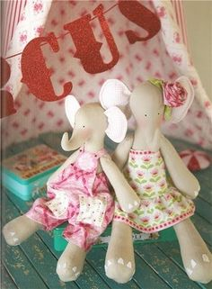 """Cute elephant pattern is in """"Tilda Atelier"""" by Tone Finnanger <3  <3  <3"""