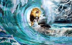 Lion Of Judah Wall Art - Mixed Media - Holy Roar by Dolores Develde Lion Of Judah Jesus, Tribe Of Judah, Bride Of Christ, Prophetic Art, Sad Art, Jesus Pictures, Jewish Art, Heart Art, Mixed Media Art