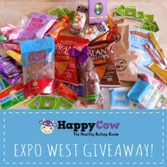 ** GIVEAWAY! ** Check out our Expo West roundup and enter our giveaway for a chance to win one of THREE boxes full of vegan treats we collected from the expo! #nomnomnom