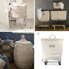 Found at @Apartment Therapy; Laundry Carts: Restoration Hardware $129 - $229