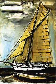 """Bernard Buffet (10 July 1928 – 4 October 1999) was a French painter of Expressionism and a member of the anti-abstract art group """"L'homme Témoin"""" (the Witness-Man)."""