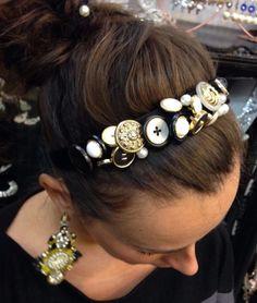 Stallonatura di bottoni vintage in stile dolce e gabbana