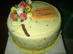Tulips cake from E Grandma Birthday Cakes, Tulip Cake, Tulips, Baking, Desserts, Wedding, Food, Tailgate Desserts, Valentines Day Weddings