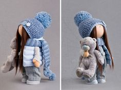 Cloth doll Fabric doll Textile doll Winter por AnnKirillartPlace