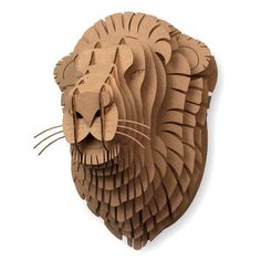 No need for people to hunt. Trophy heads of every kind. Giant Leon Lion Trophy, $160, now featured on Fab.