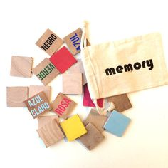 Spanish color memory game wood memory game by FreestyleMom on Etsy