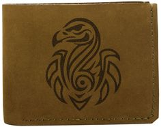 Vietsbay Men's Ostrich Abstract 2 Handmade Genuine Pull-up Leather Wallet