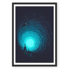 Poster Calm Night To Fly de @robsonborges | Colab55