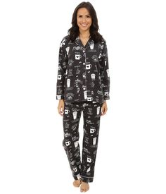b201fa4d7a Coffee Flannel Pajama Set by PJ Salvage. Available online and in-store at  JAX Boutique in Haddonfield. JAX Boutique sells women s clothing