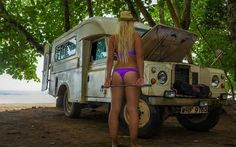 Woman and land rovers. The best of both