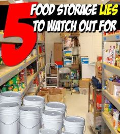 5 Food Storage Lies You're Being Spoon Fed Right Now   Recipes and Food Storage   Survival Food and Recipe Ideas For Long Term Food Storage - Survival Prepping Tips at survivallife.com