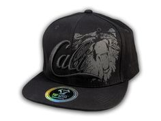 This is a High Quality Black on Black Cali Bear Snapback Hat from Top Level. It has Embroidered Cali in on the Front! With A Gray Bear in Print! Embroidered Bear with Star on the Side! And Cali Embroidered on the Back! Hip Hop Hat, Bobe, Snapback Cap, Baseball Hats, California, Flats, 3d, Free Shipping, Shirt