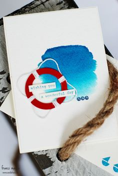 Maritime Birthday Card with watercoloring using Stampin' Up! products cestlafranz.de » 1 Layout = 3 Projekte
