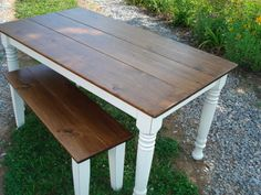 Distressed Farmhouse Table Farm Tables on Etsy Etsy by KKFurniture