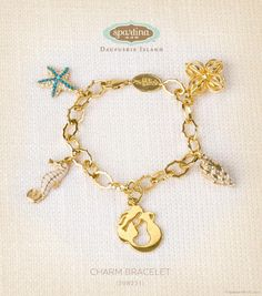 Charm Bracelet would look cute with the Mermaid Necklace they have