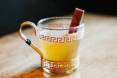 Roman Hot Toddy, $11, at Locanda. Inside the stunning glass is a fusion of honey syrup, lemon juice, and cinnamon. What makes this hot toddy stand out? Its Roman twist comes at us in the form of calvados mixed with Amaro Sibilant instead of the usual whiskey. The result? A slightly smoky, always spicy, herbaceous sip. The drink will be around until February, and then the Roman Empire will fall once more.