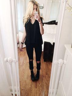 e972d74a4a9e Tumblr. All Black Converse OutfitHigh ...