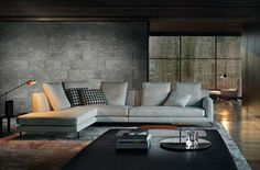 Modern Home Furniture for Living Rooms – by Minotti Modern Home Furniture, Sofa Furniture, Furniture Design, Minotti Furniture, European Furniture, Living Room Sofa, Living Room Interior, Living Room Decor, Interior Architecture