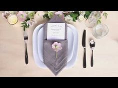 Table Setting Tips: 3 Menu Napkin Folds - Gift & Favor Ideas from Evermine