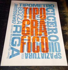 Poster tipografico / by La Vecchia Stamperia
