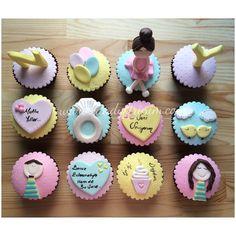 Fondant love cupcakes  #cupcakes #sekerhamuru #sugarart #candyfirinim #lovecupcakes