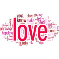 love-songs-word-cloud-tall-650-430.jpg (636×421) ❤ liked on Polyvore featuring phrase, quotes, saying and text