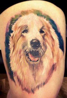 http://tattoomagz.com/bright-color-animal-tattoos/bright-color-animal-tattoos-lessy-dog/
