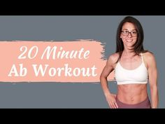 Ab Workout + Giveaway (Flat stomach home workout) 20 Minute Ab Workout, Full Ab Workout, Killer Ab Workouts, Oblique Workout, Workout For Flat Stomach, Workout Plans, Pop Pilates, Pilates Video, Pilates For Beginners