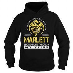 I Love MARLETT Blood Runs Through My Veins - Last Name, Surname TShirts T shirts