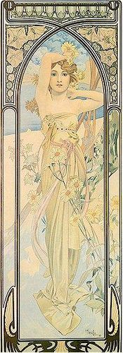 Mucha: love the borders especially here. Mucha was masterful at what he created, fine art. I think this is Art Nouveau Art Nouveau Mucha, Alphonse Mucha Art, Art Nouveau Poster, Illustrator, Illustration Photo, Art And Architecture, Love Art, Oeuvre D'art, Amazing Art
