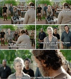 """The Walking Dead 5x12 """"Remember"""" Rick Grimes and Carol - She was so awesome in this episode."""