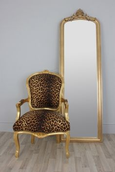Image detail for -leopard leopard print louis style salon chair stunning leopard print ...
