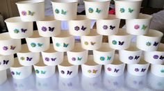 Delightful flower and butterfly 8oz paper bowls...perfect for sweet treats or as a thank you on your wedding day.