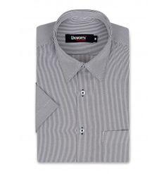 White With Black Stripe Dress Shirt