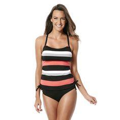 29d33d05fb3c5 Jag Swim Newport Stripe Underwire Tankini Top Black French Bikini, Tankini  Top, Swimwear Cover