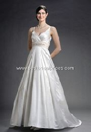 wrinkle satin wedding gown