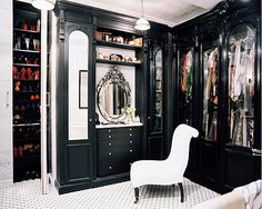 I'd love a large tiled closet & a chair to go with it.