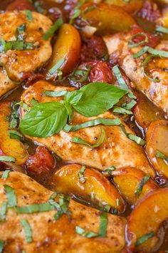 Balsamic Peach Chicken Skillet | Cooking Classy