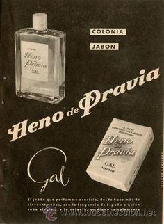 Página Publicidad Original *Colonia y Jabón HENO DE PRAVIA - GAL*  Agencia VERITAS-- Año 1959