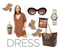 """""""choker dress!"""" by eliza-sinner ❤ liked on Polyvore featuring Missguided, Louis Vuitton, Gucci and MAC Cosmetics"""