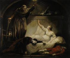 James Northcote. Romeo and Juliet, act V, scene III. Oil on canvas, ca. 1790. Folger Shakespeare Library. #Shax450