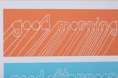 Good Morning Screen Print by Brainstorm