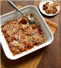 Mushroom Parmesan Bake - easy and yummy sounding.