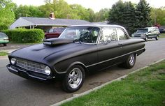 Murdered-Out: 50 Menacing Matte Black Cars - 1960 Ford Falcon Ford Falcon, Matte Black Cars, Murdered Out, Aussie Muscle Cars, Ford Fairlane, Street Racing, Drag Cars, Hot Cars, Rat Rods