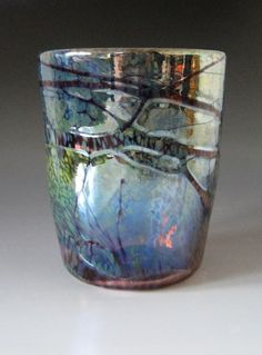 Blown Drinking Glass Blown Glass Tumbler by HorkoverGlass on Etsy, $28.00